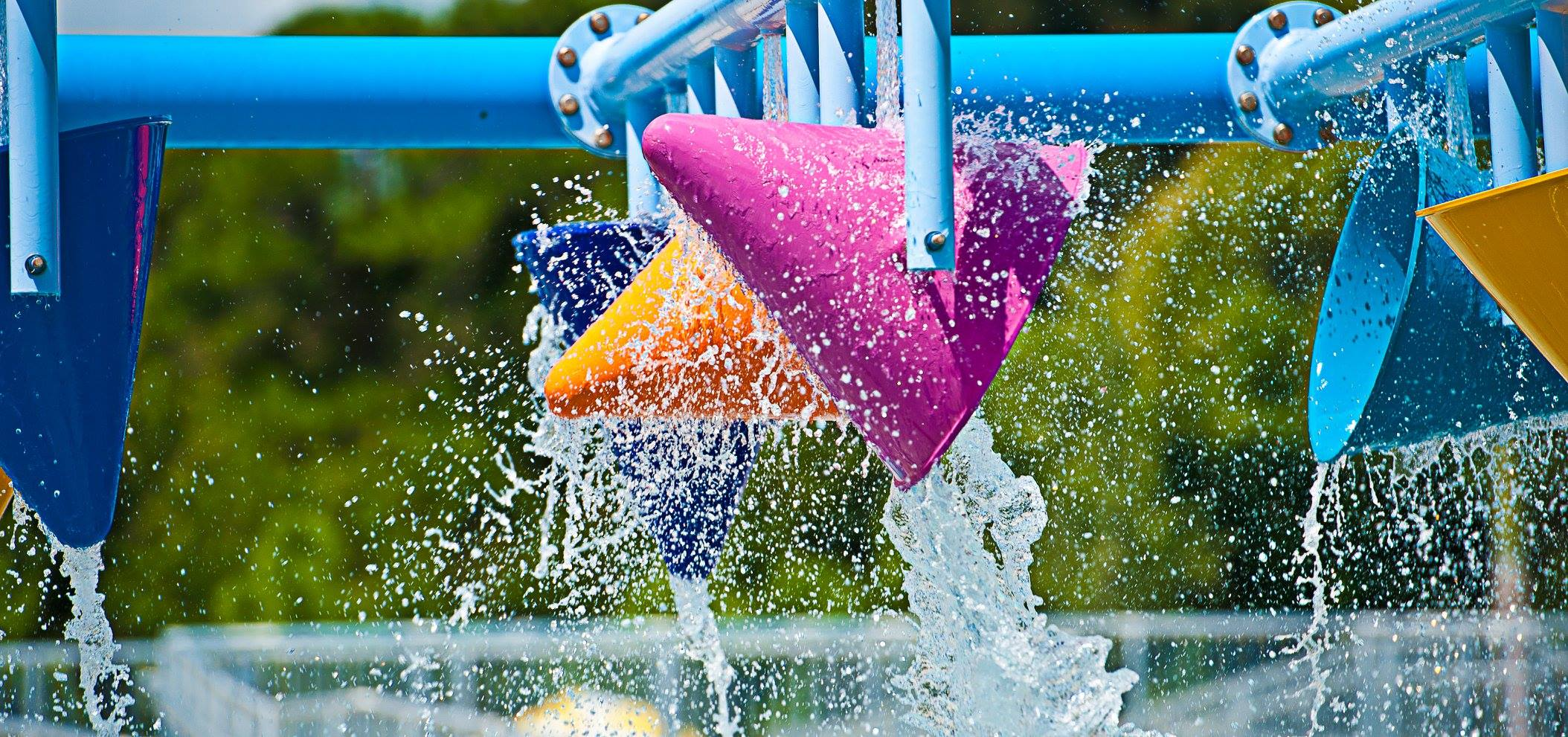 Water features at Sailfish Splash Waterpark