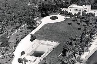 An aerial of the Leach Family home