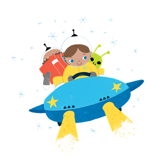 A Universe of Stories Summer Reading Program logo