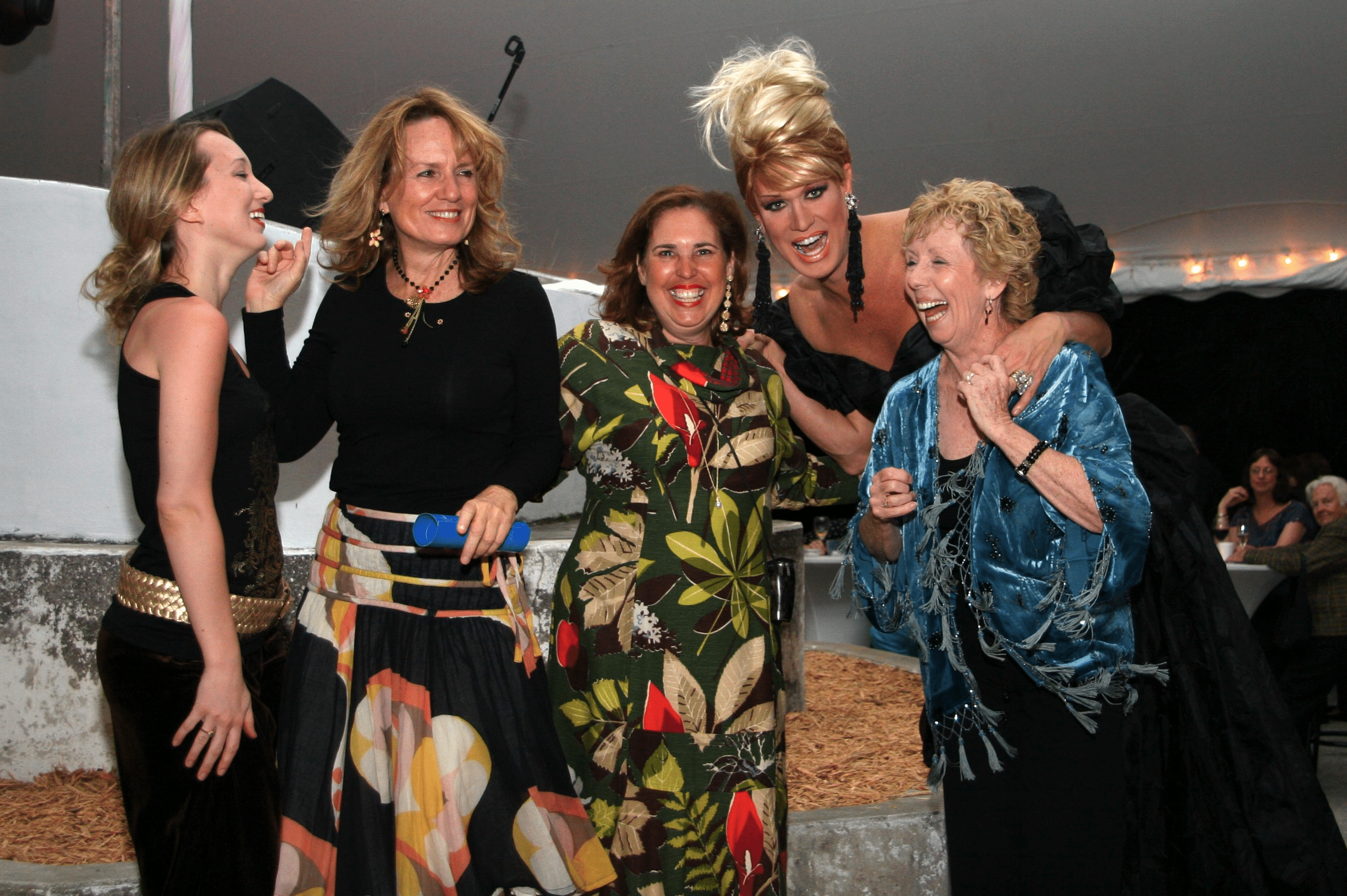 Attendees at a fundraiser event
