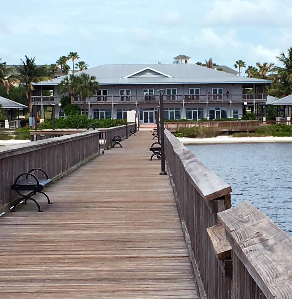 Boardwalk behind the Frances Langford Pavilion
