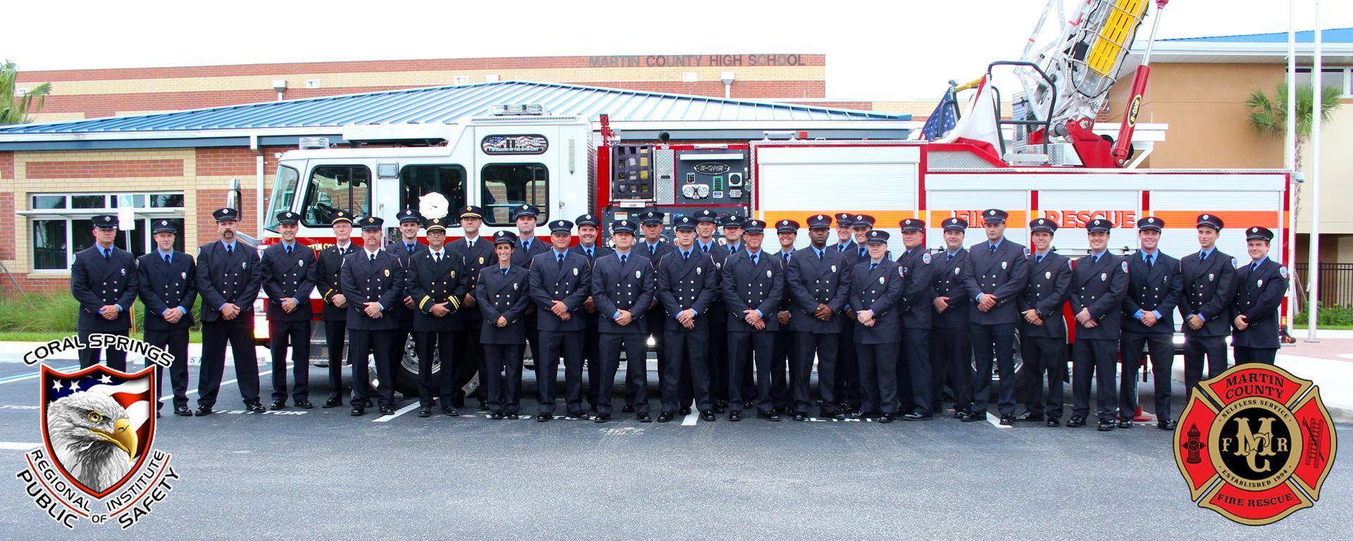 Martin County Fire Rescue  paramedic graduates