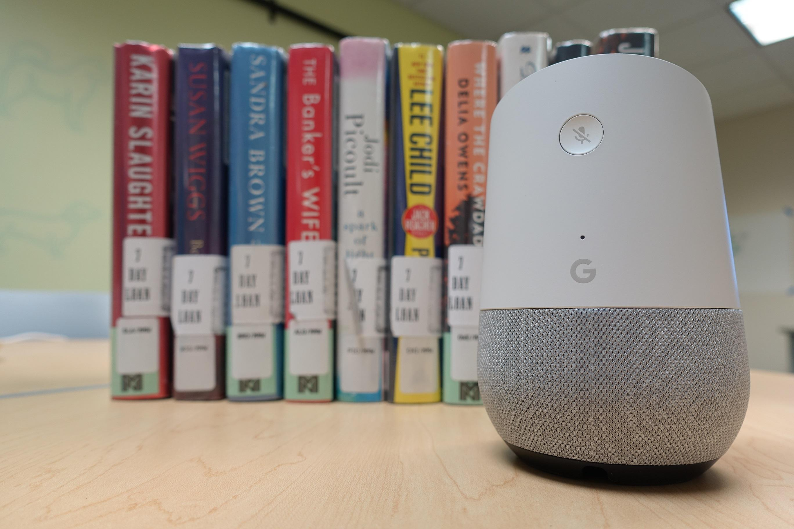 picture of a google home smart speakers