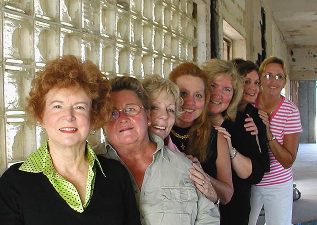 FOME members inside the mansion during renovation