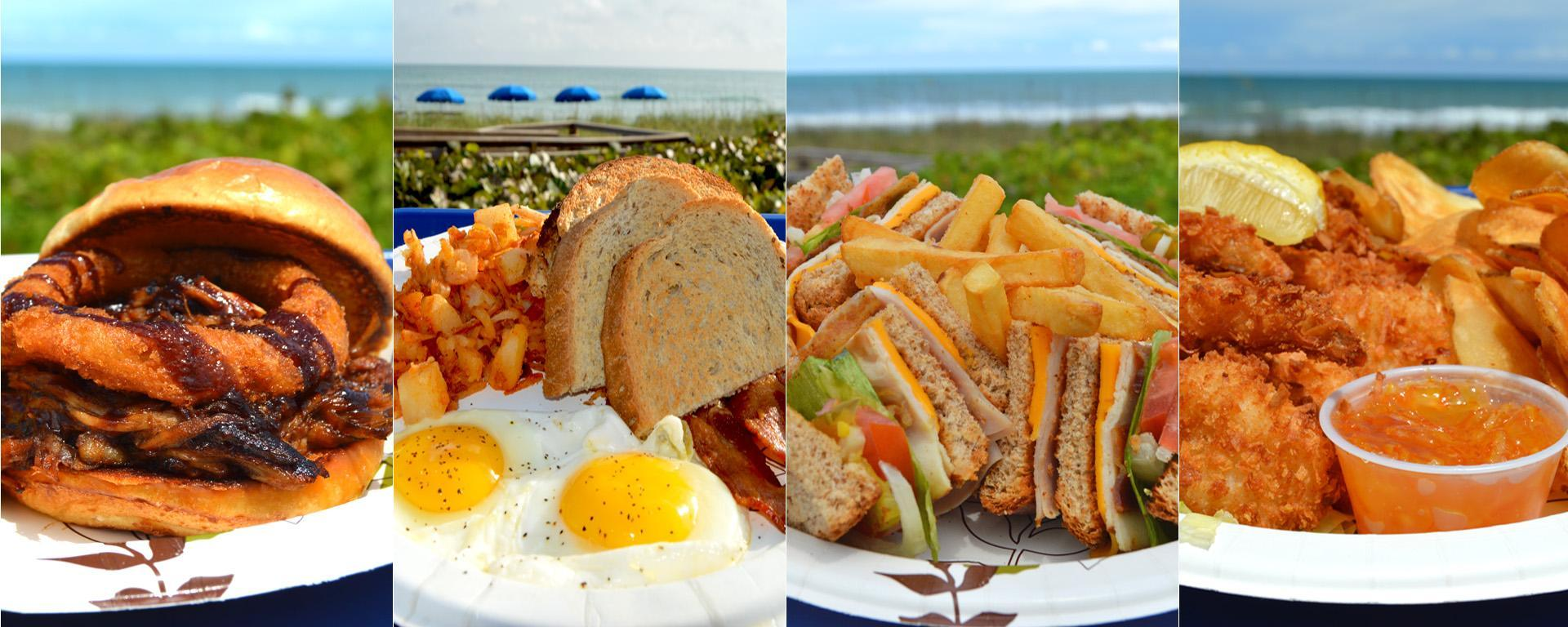 Various food selections available at sand dune cafe