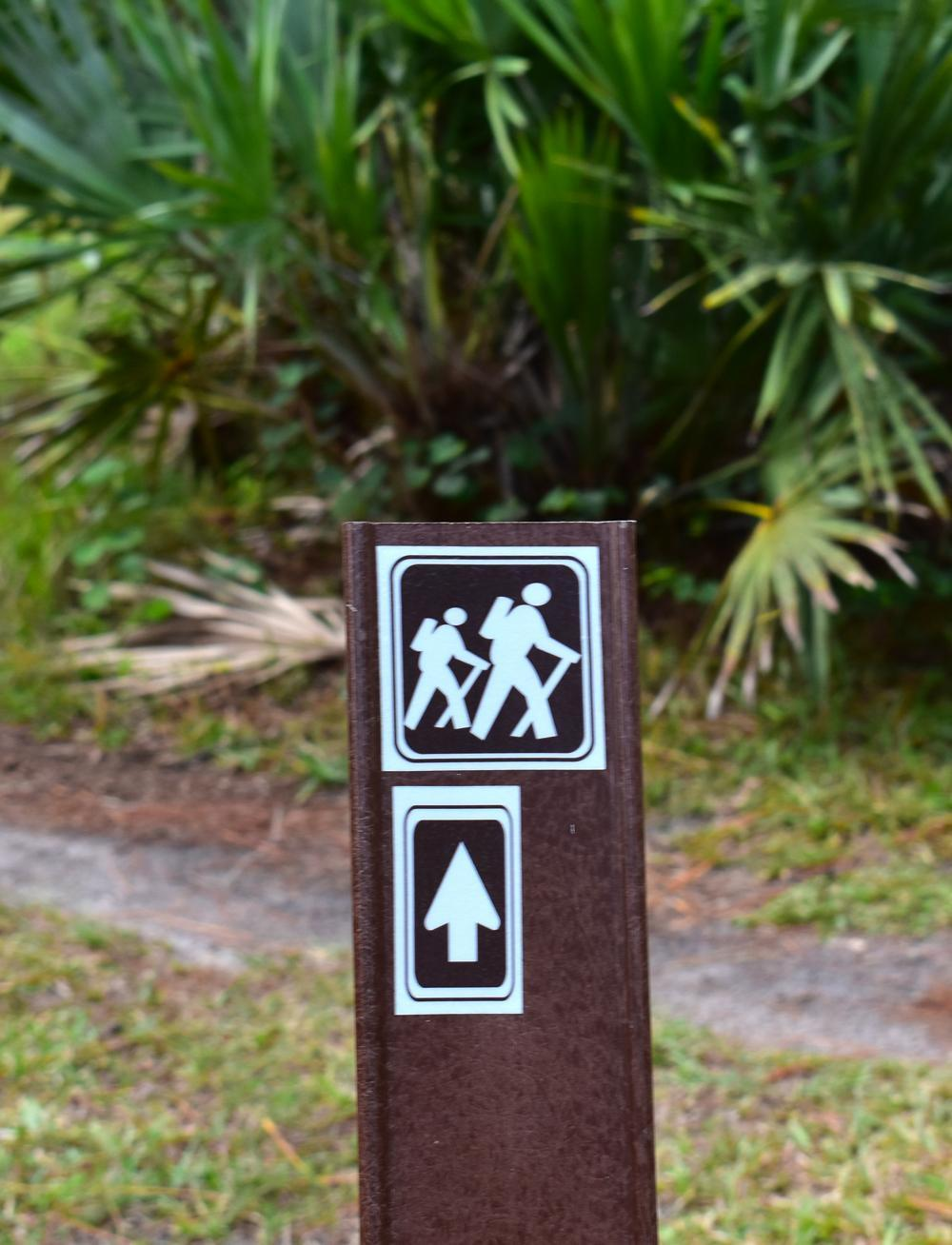 An image of hiking trail signage