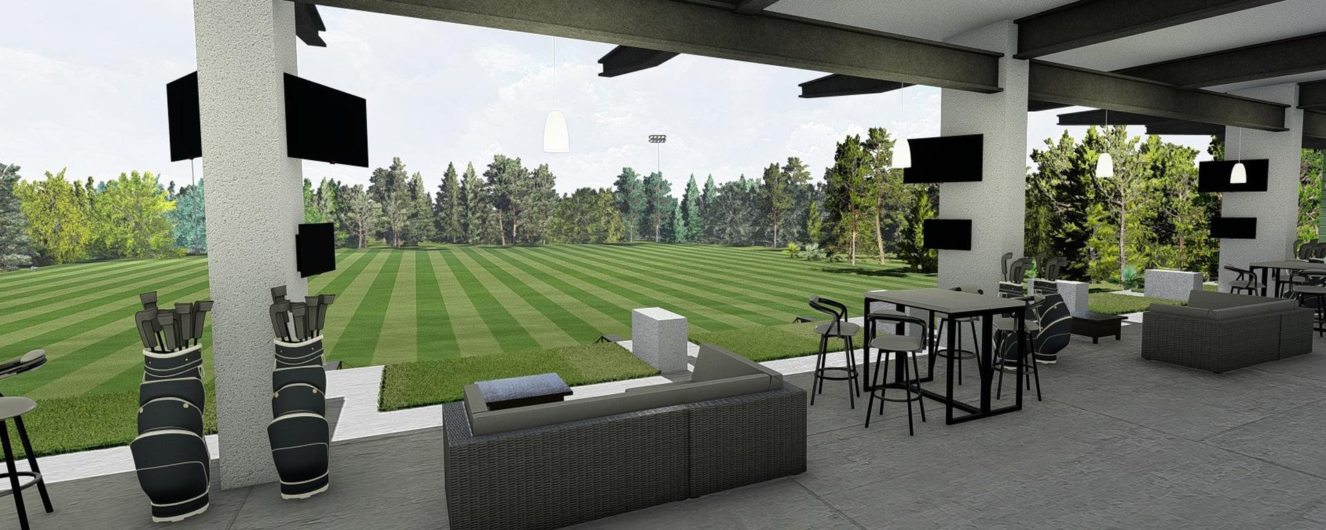 Rendering of inside of the hitting bays