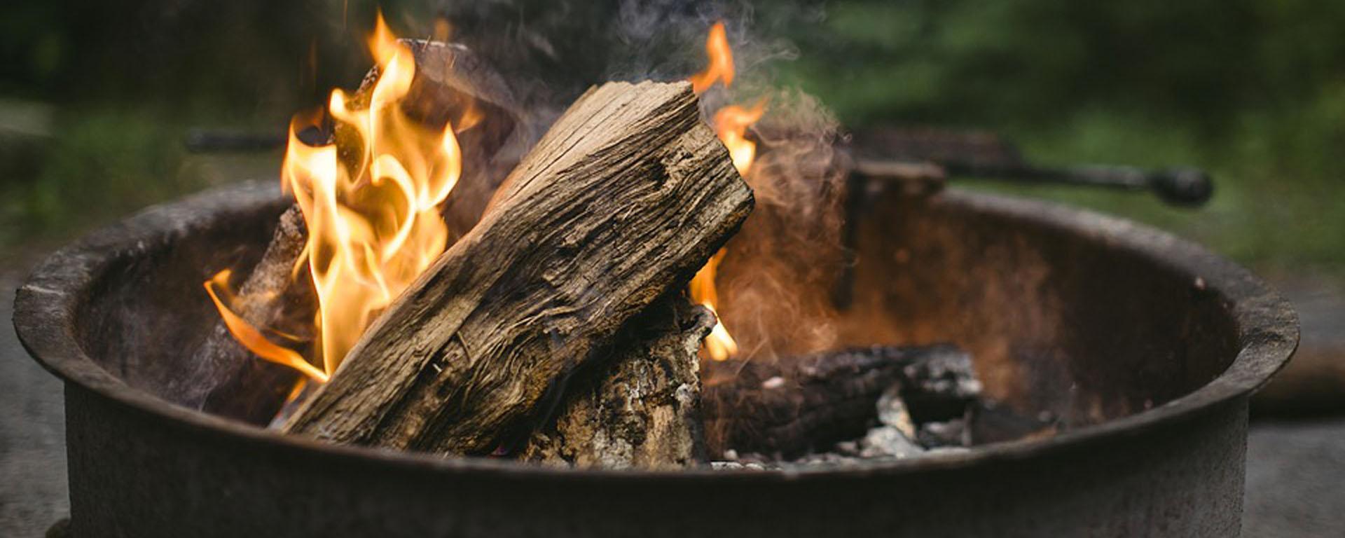 A bonfire pit