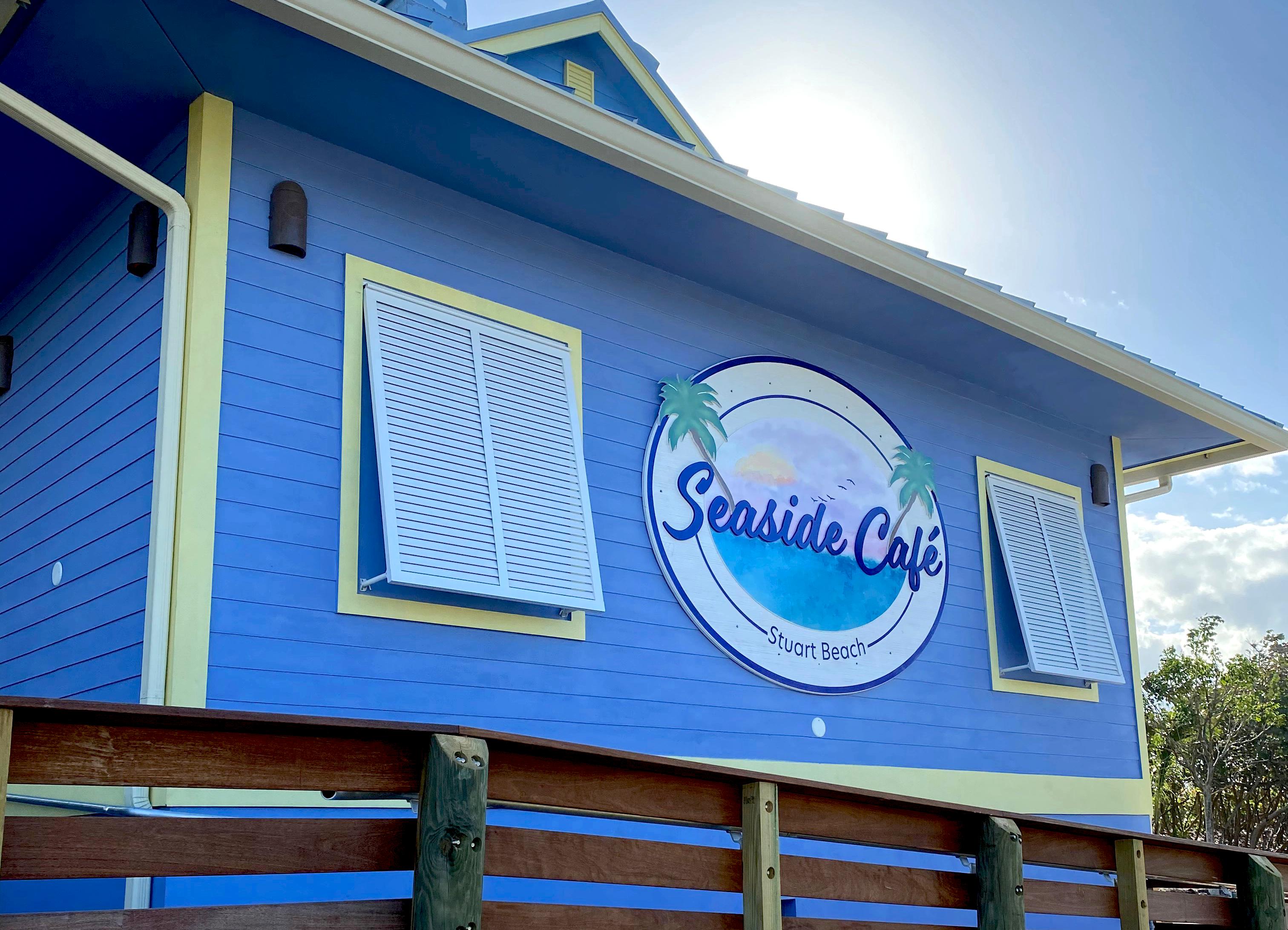 The exterior of seaside Café
