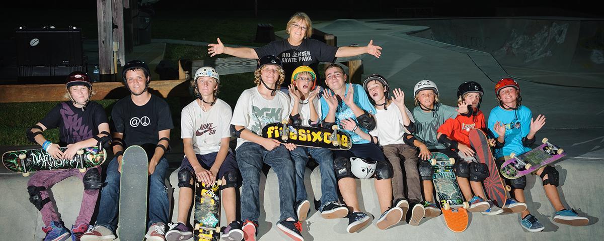 Kids at the Skate Park