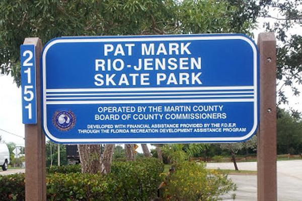 Pat Mark-Rio Skate Park Sign
