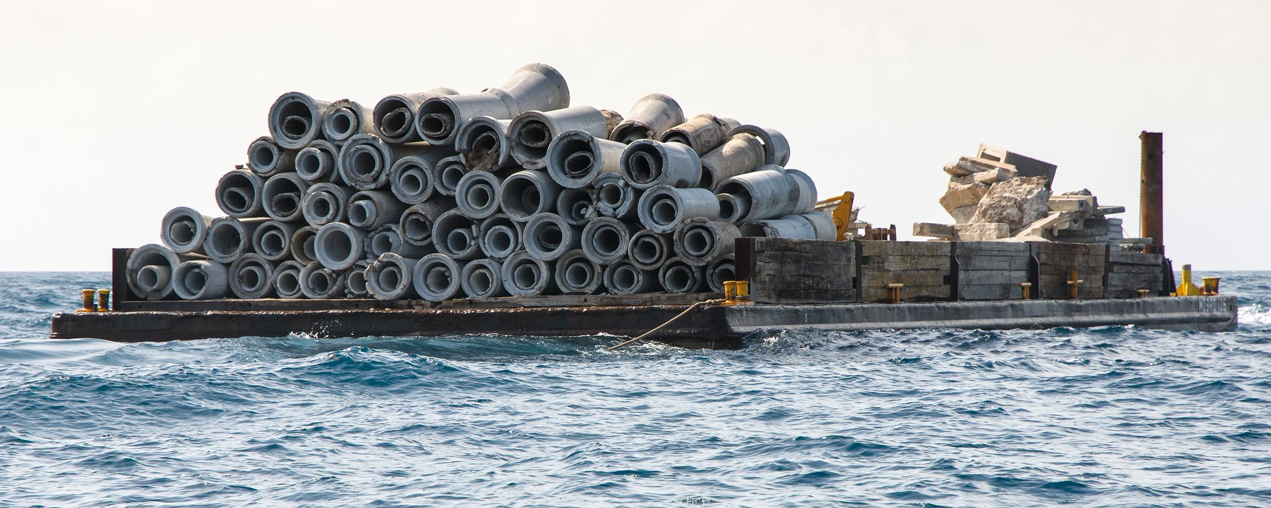 A artificial reef deployment at the South County Site
