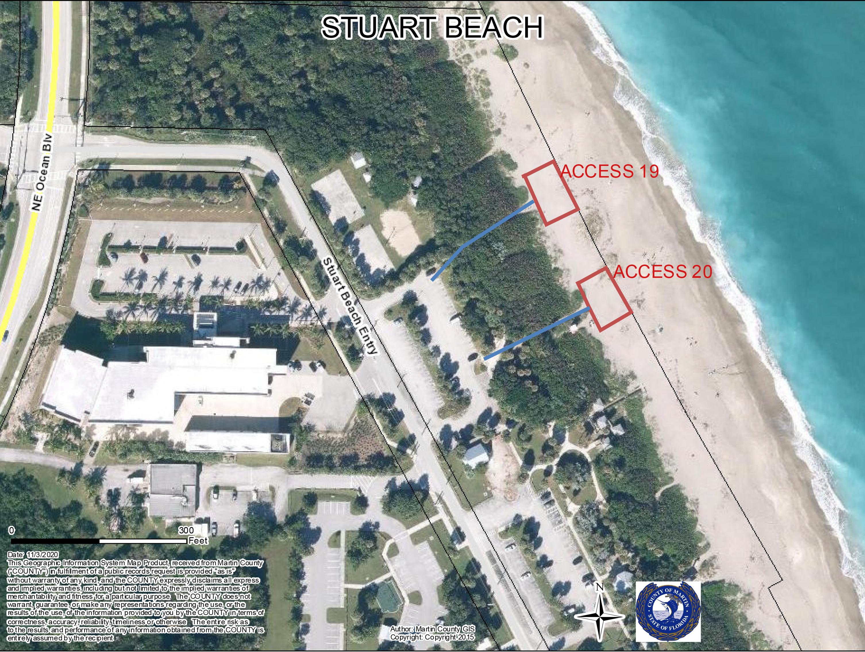 Stuart Beach fire Pit Locations