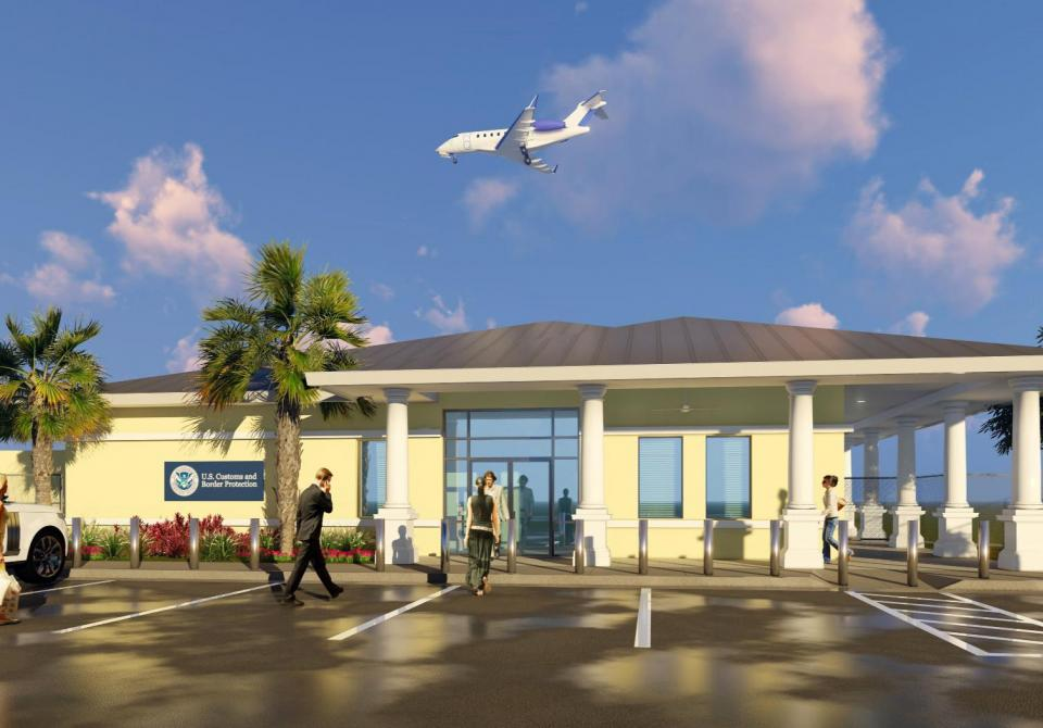 A rendering of the U.S. Customs Facility