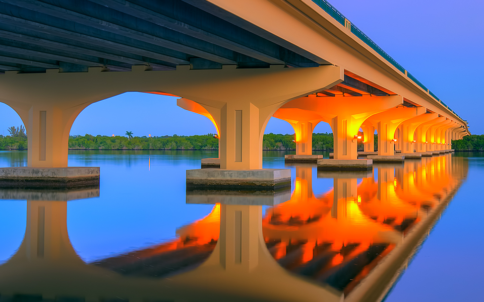 GIS Maps & Downloads with map icon and Palm City Bridge