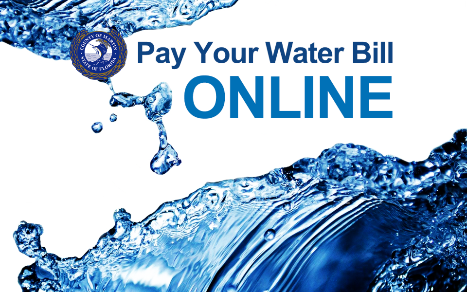 A graphic that says Pay your Water Bill Online