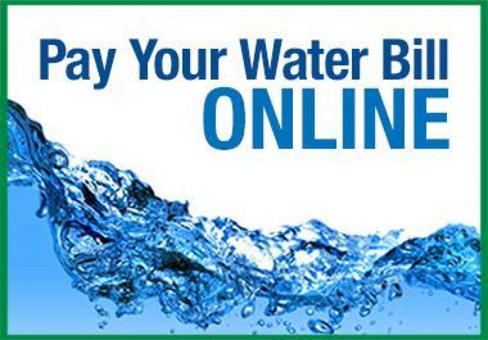 A graphic to Pay your Water Bill Online