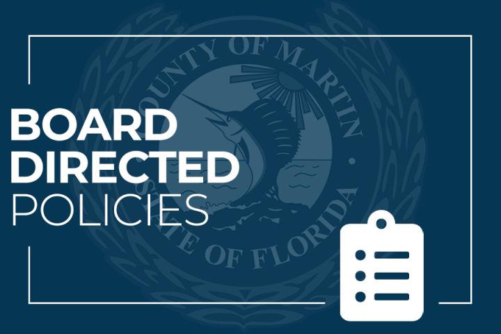 Board Directed Policies and Martin County Seal