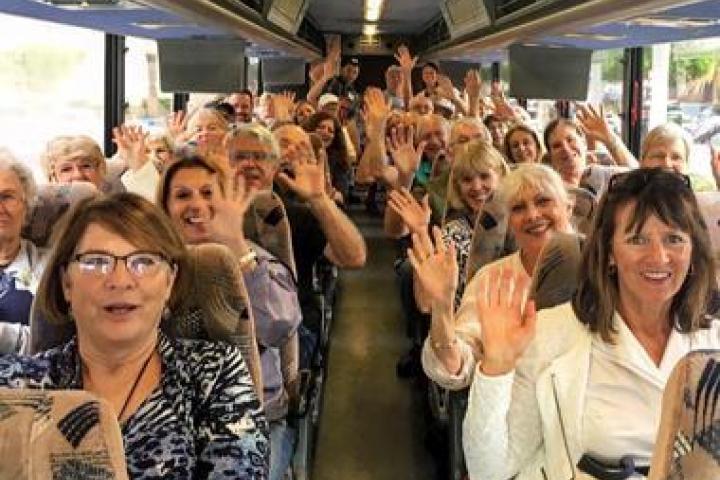 CARES Program Participants on a bus