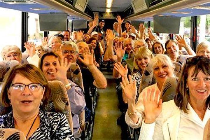 CARES participants on a bus