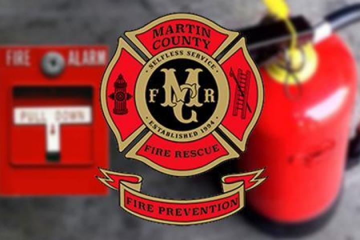 Extinguisher and Martin County Fire Prevention logo