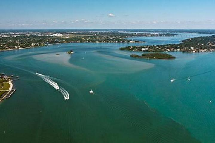 Aerial over the St. Lucie River