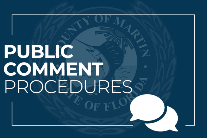 Public Comment Procedures and Martin County Seal