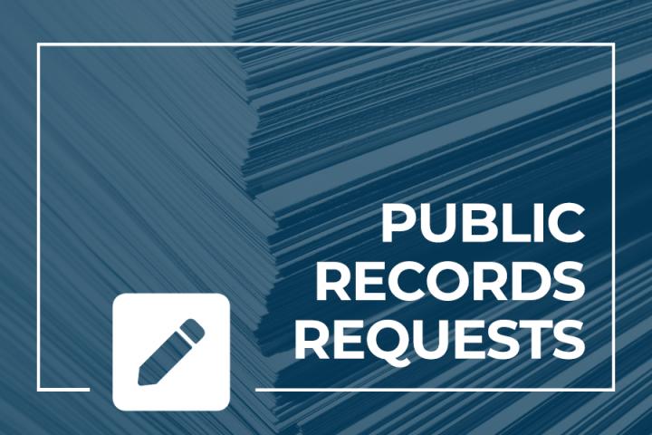 Public Records Requests and pencil icon