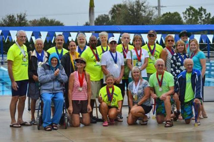 Group photo from the 2017 Senior Games event