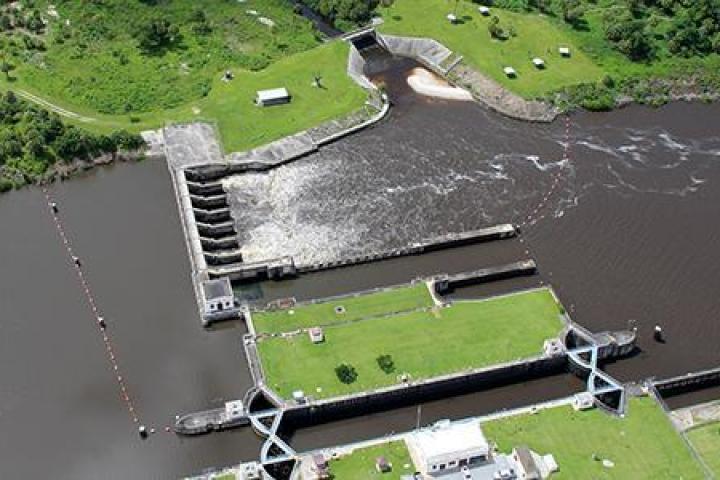 Locks along Lake Okeechobee