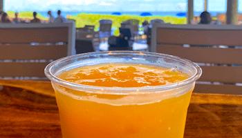 A drink at Seaside Cafe
