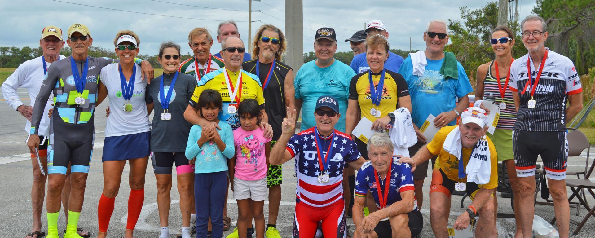 Martin County Senior Games participants in a group photo.