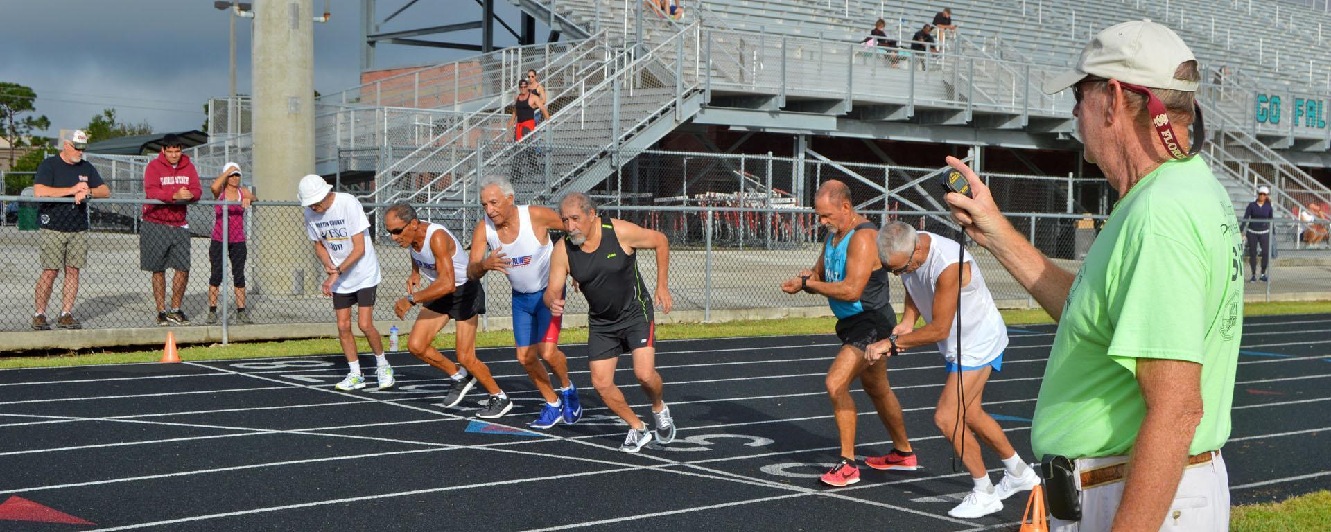 Martin County Senior Games track participants.