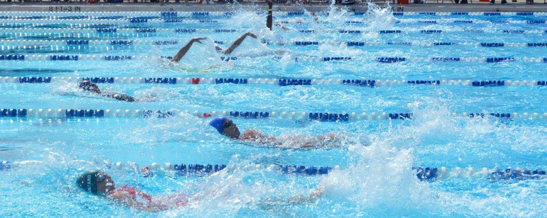 Swimmers at the Aquatic Center