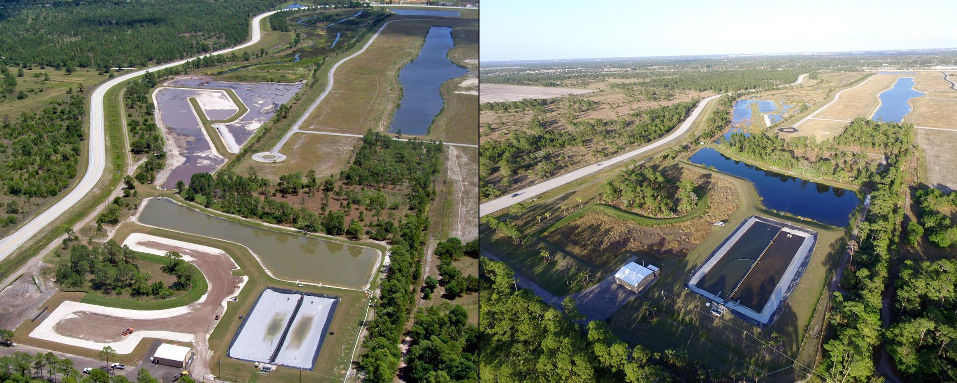 An image of the Bessey Creek project before and after