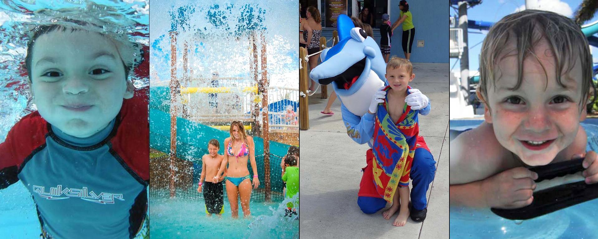 Kids and teens enjoying Sailfish Splash Waterpark
