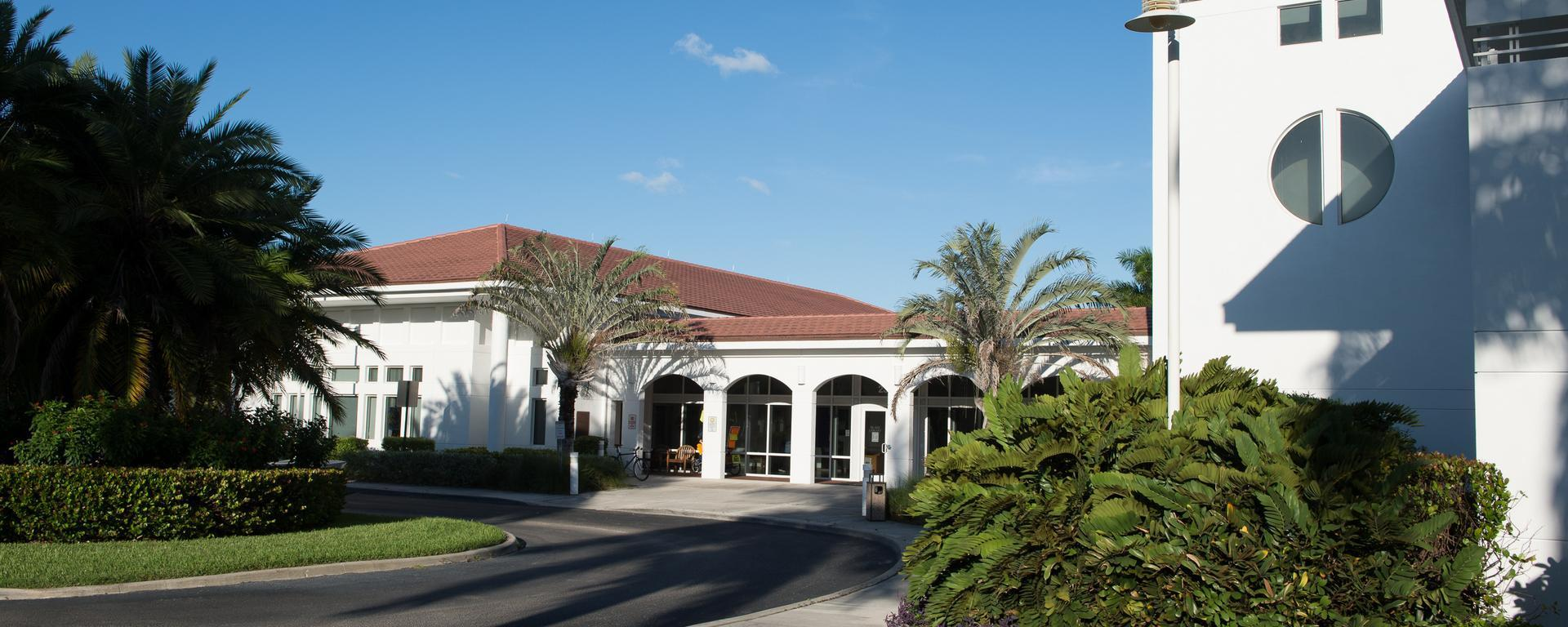 Exterior of the Blake library in Stuart