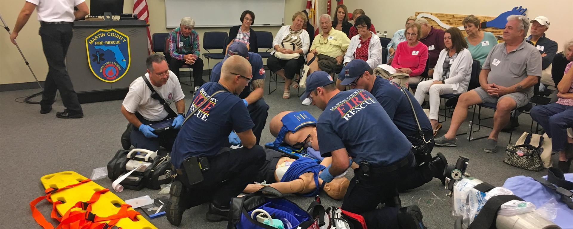 Martin County EMT/Paramedics perform a demostration