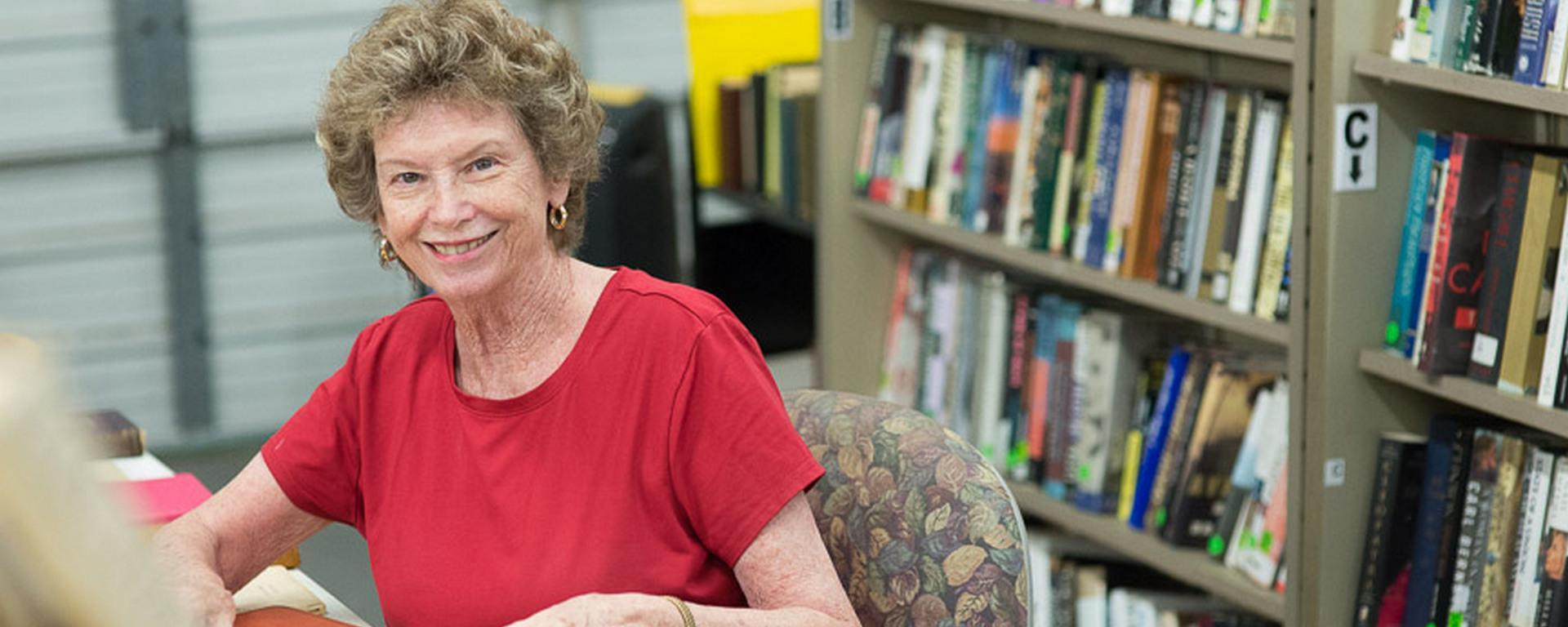 Friends of the martin county library system volunteer at the book depot