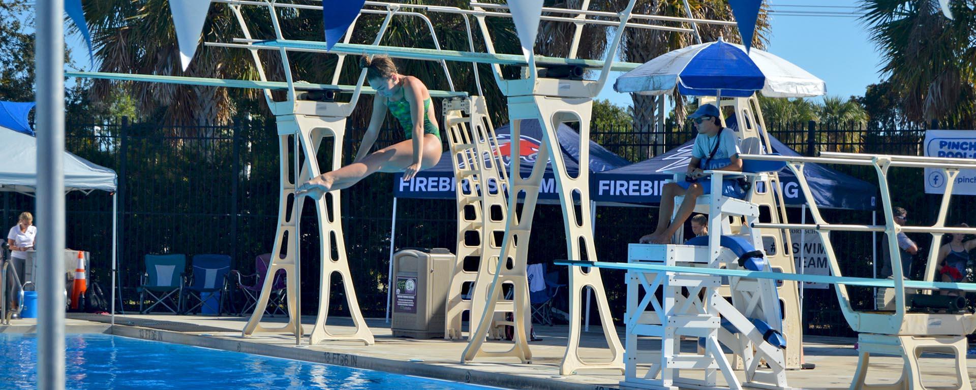 Diving at the Aquatic Center