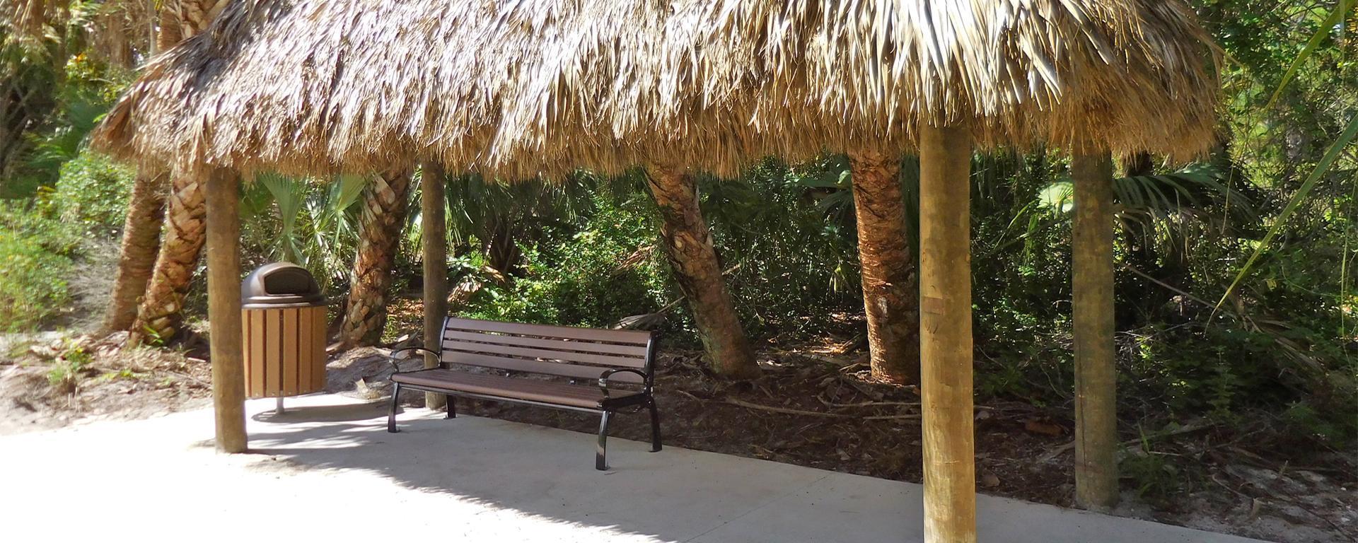 Chickee hut at Gomez Preserve