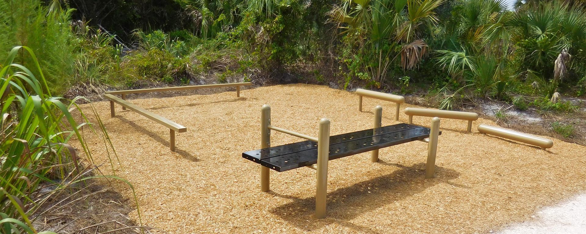 Exercise stations at Gomez Preserve