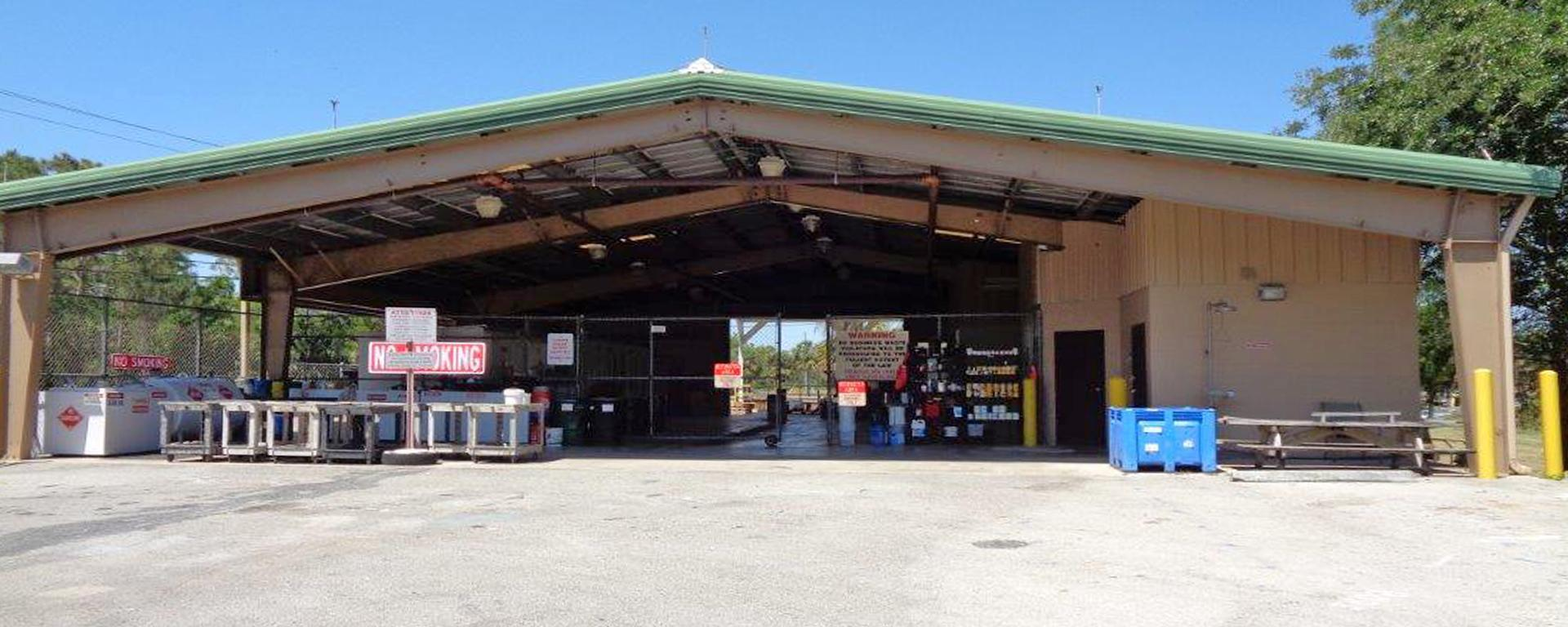 The Household Hazardous Waste Disposal Center in Palm City
