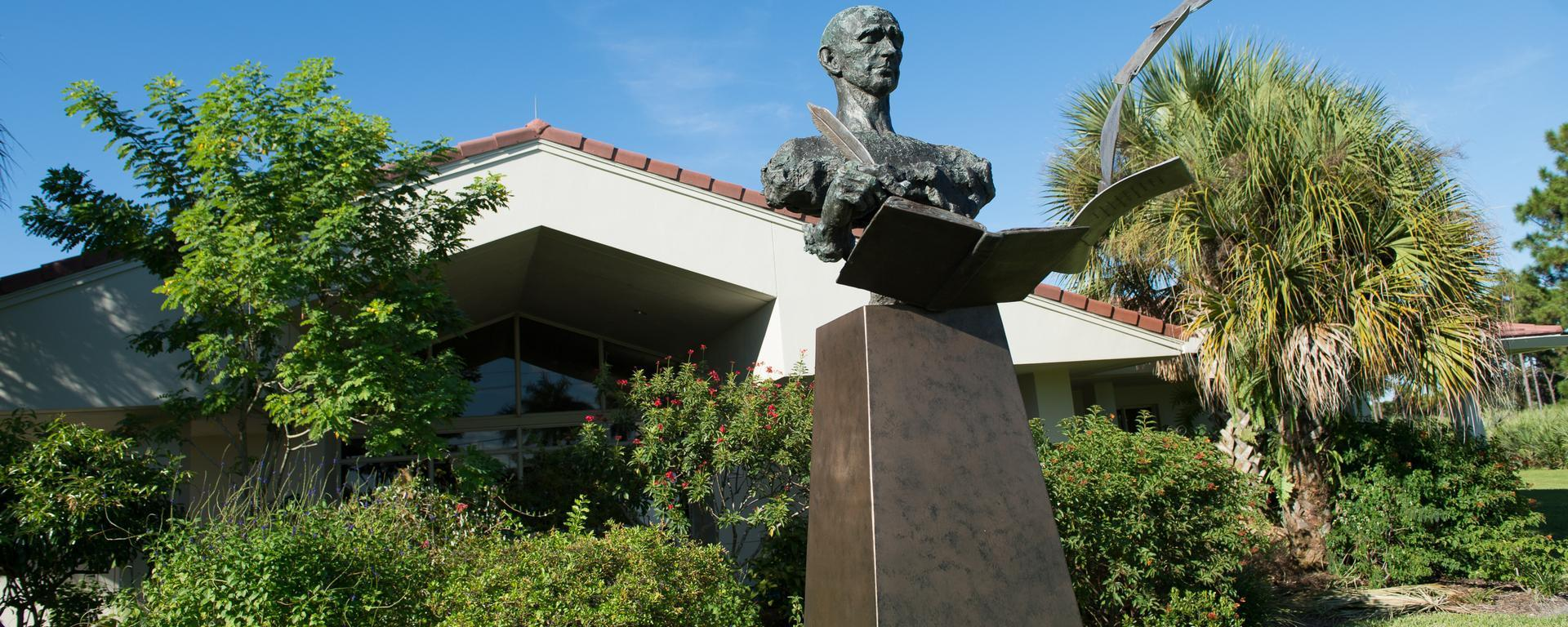 exterior of the hoke library in jensen beach