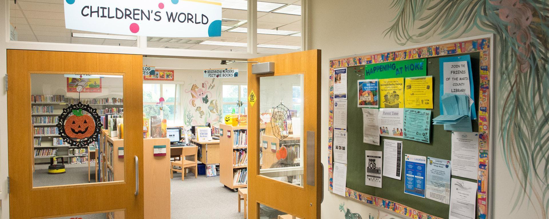 Photo of the doors to the children's room
