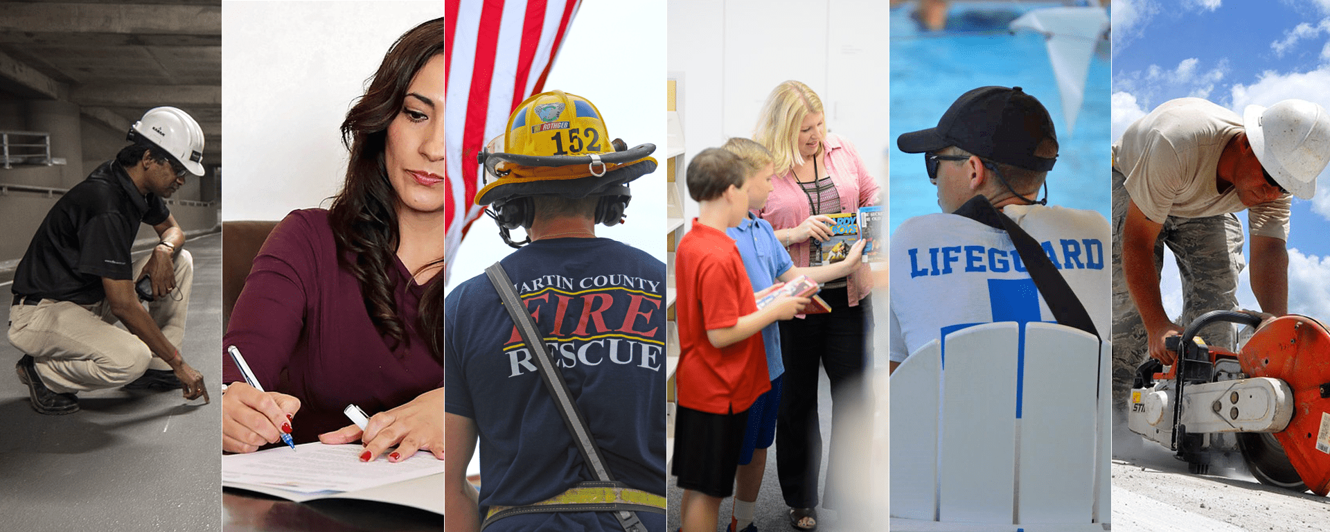 Various employees working in Martin County