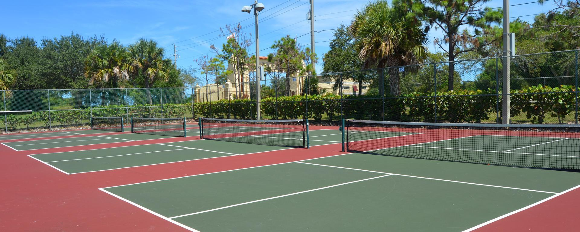 Tennis and pickleball courts at Langford Park