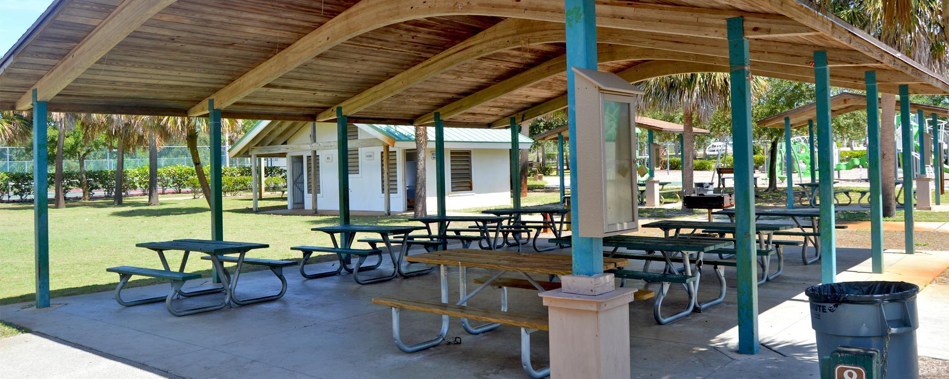 A pavilion at Langford Park