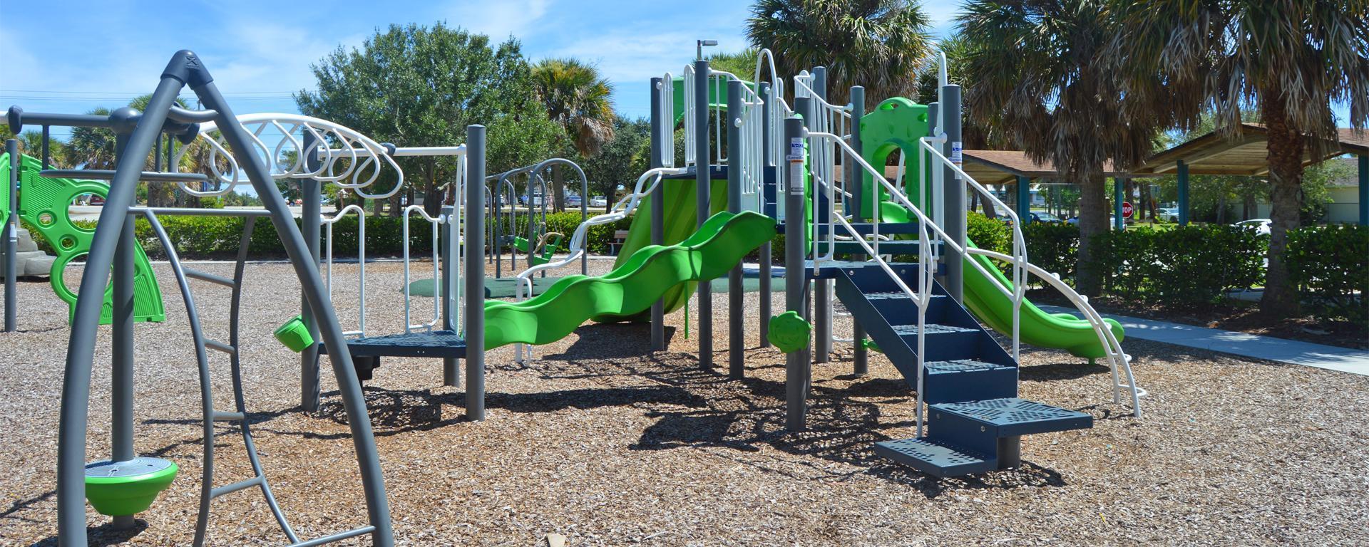 The children's playground at Langford Park