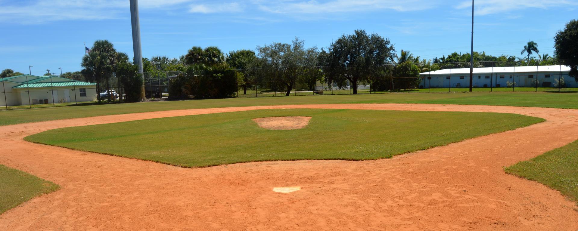 Baseball and softball fields at Langford Park